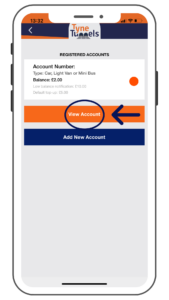 Tyne Tunnels Pre-paid App
