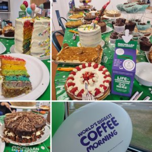 Images of cakes baked for our Macmillan coffee morning